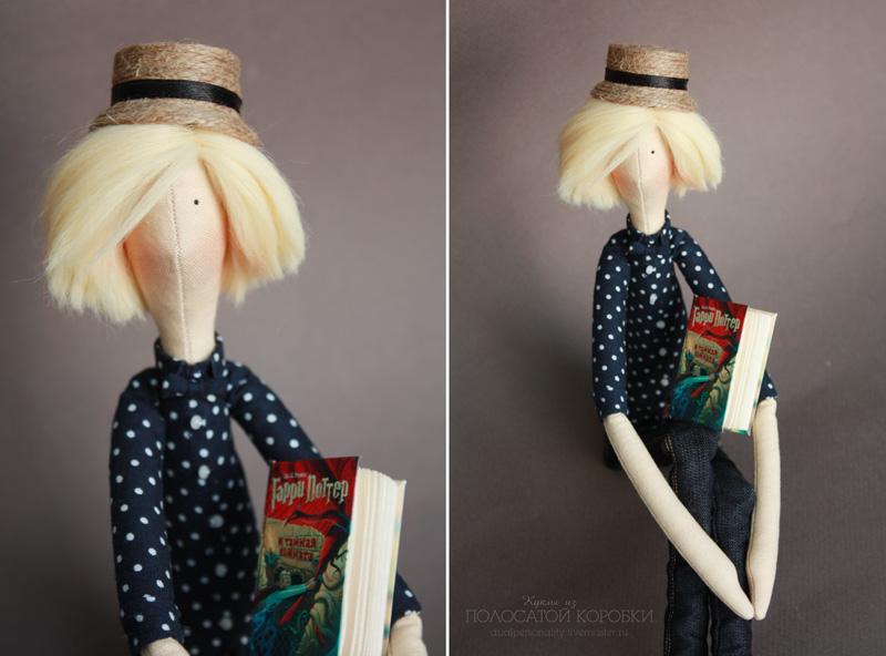 Текстильные портретные куклы-подруги.