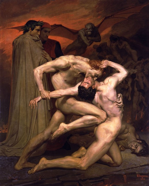 Dante y Virgilio en el infierno. William-Adolphe Bouguereau Dante
