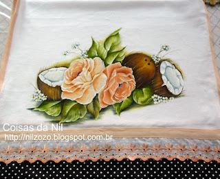 pintura de rosas e cocos