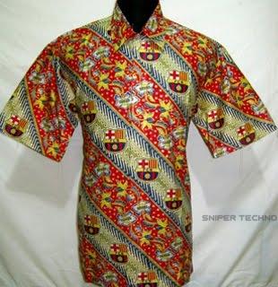 Gambar Baju Batik Bola Barcelona