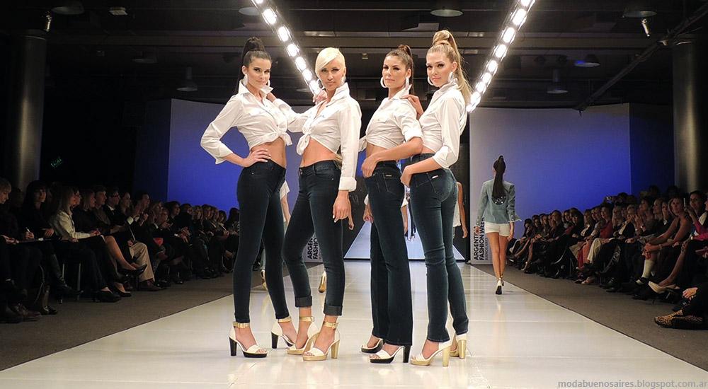 Adriana Costantini primavera verano 2015 moda pantalones de jeans verano 2015.