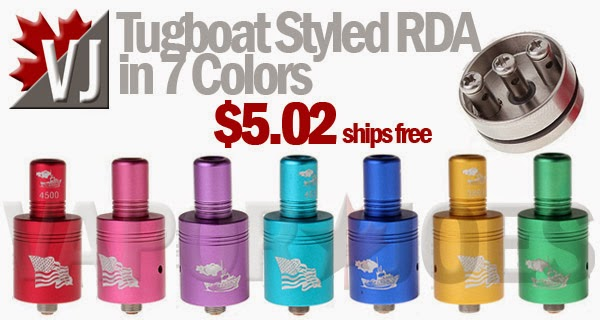 Tugboat Styled Rebuildable Atomizers in 7 Colors - CHEAP!