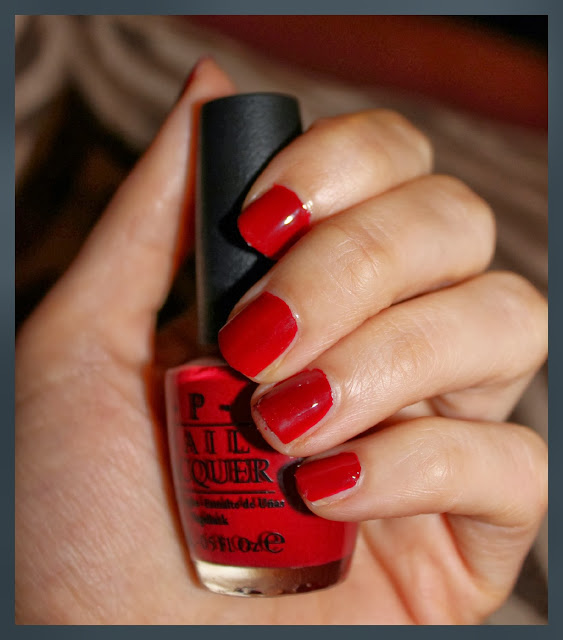 opi nail polish chick flick cherry