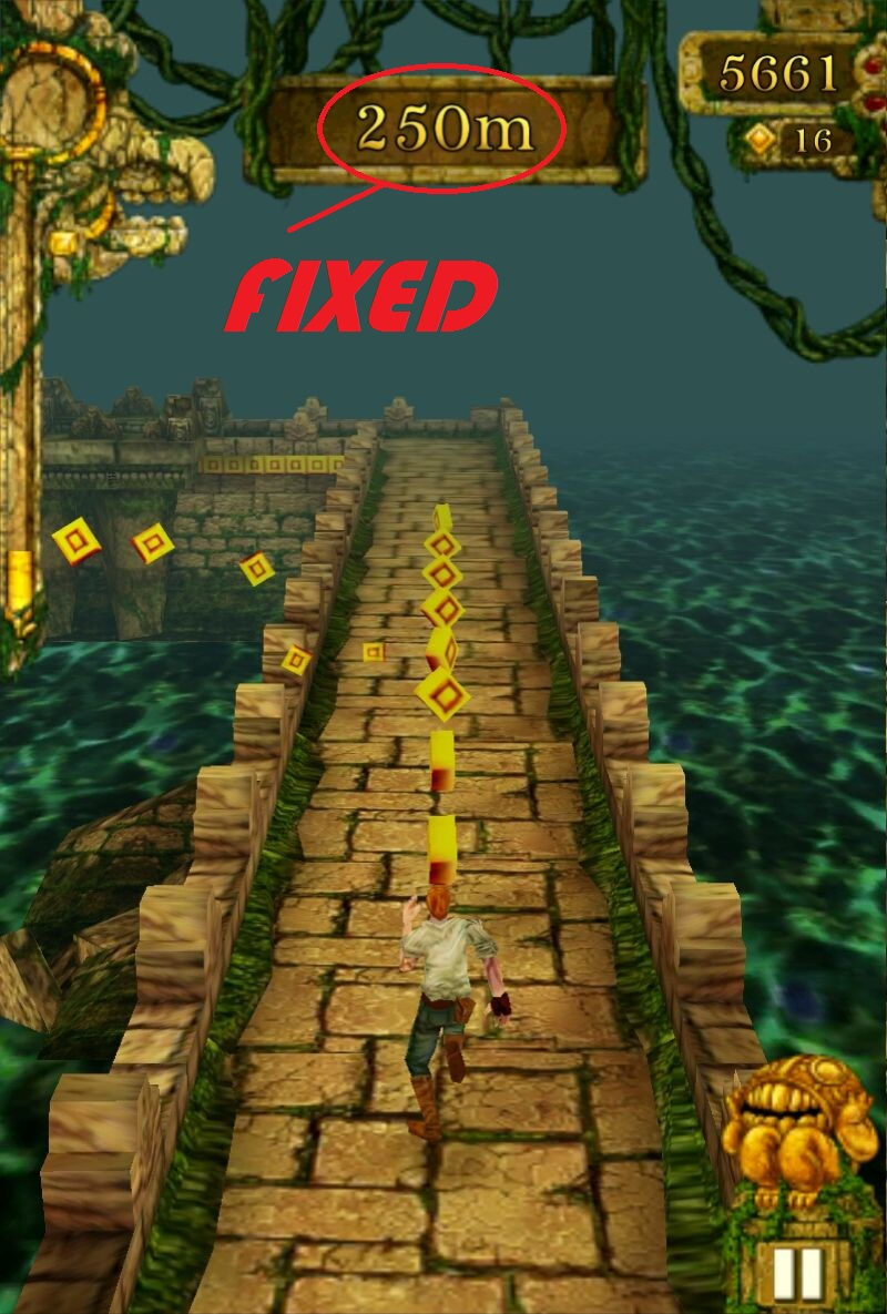 Temple run is Now Fixed Auto-die AT-250mtrs