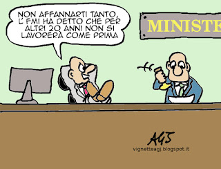 lavoro, fmi, crisi, satira vignetta