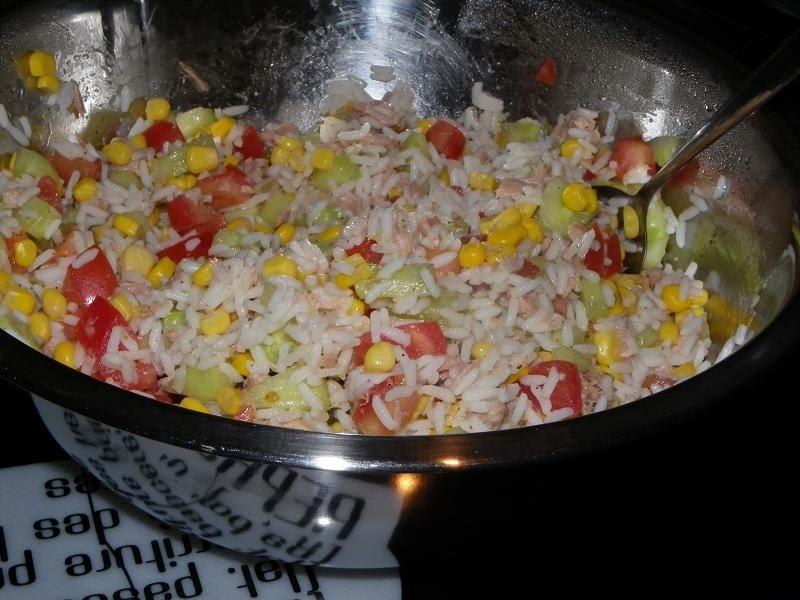 mal ne aux fourneaux salade de riz au thon 5pp pers. Black Bedroom Furniture Sets. Home Design Ideas