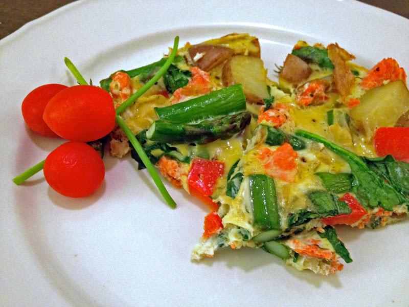 lish: Salmon & Asparagus Frittata
