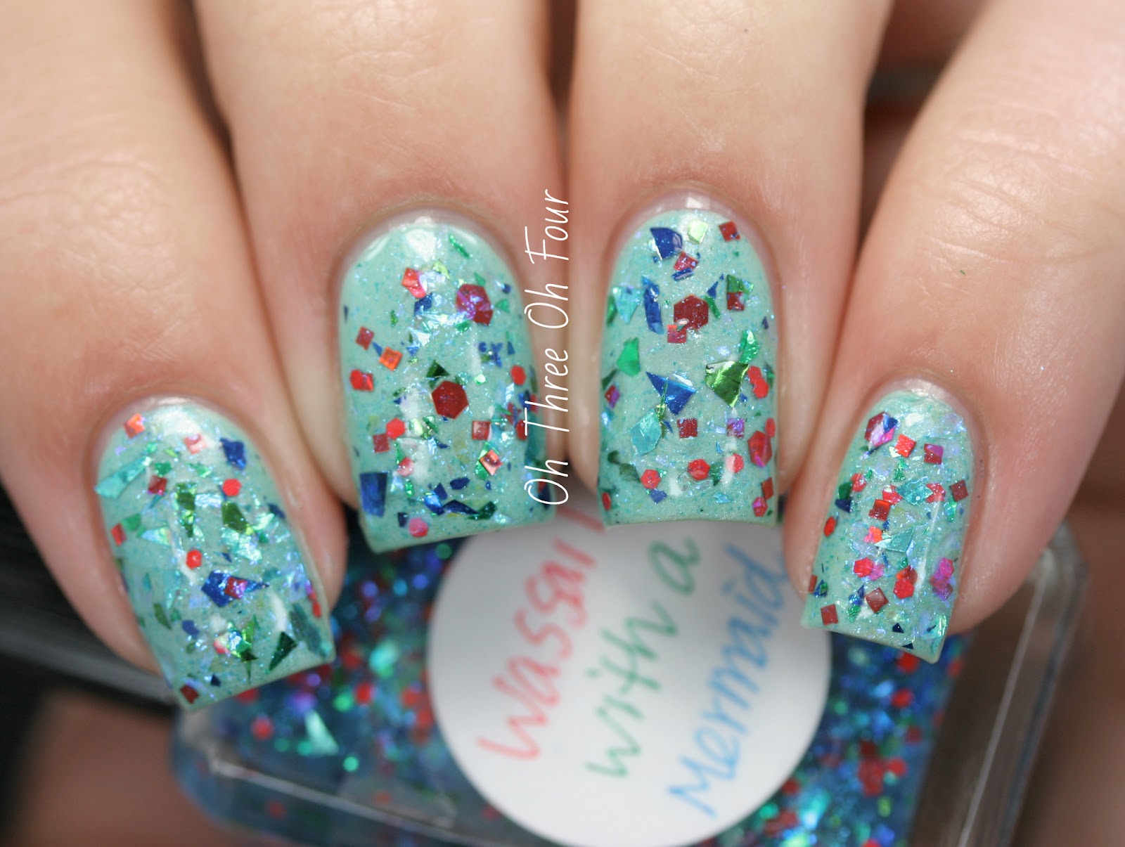 Lynnderella Wassail with a Mermaid Swatch