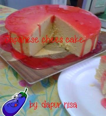 Resep Cara Membuat Japaneese Chees Cake ala Bunda Nisa Widiana