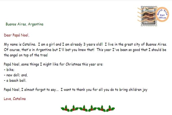 Reply Letter From Santa