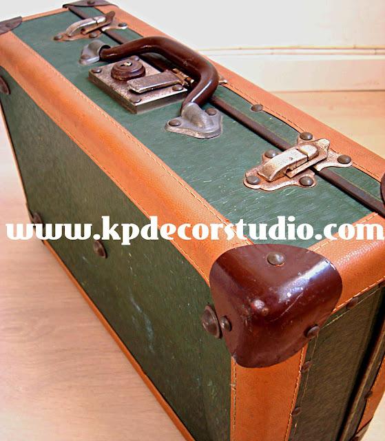 KP. decoración vintage. Comprar maletas antiguas, decorar con maletas