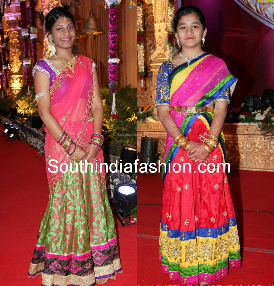 latest party wear half sarees