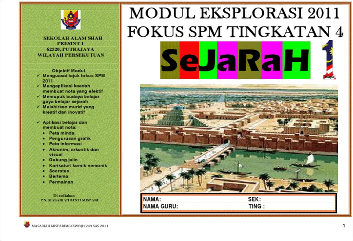 Modul Eksplorasi Sejarah Tingkatan 4 :: | SEJARAH