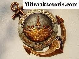 Emblem TNI bahan kuningan harga PABRIK Emblem-baret-tni-ad
