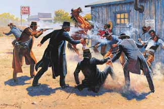 Image result for gunfight at the ok corral in 'tombstone'