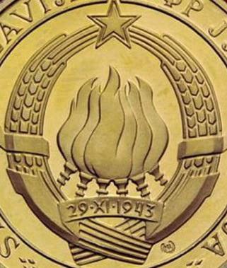 Yugoslavia Jugoslavija AVNOJ zlatnik kovanec gold coin SFRJ Broz