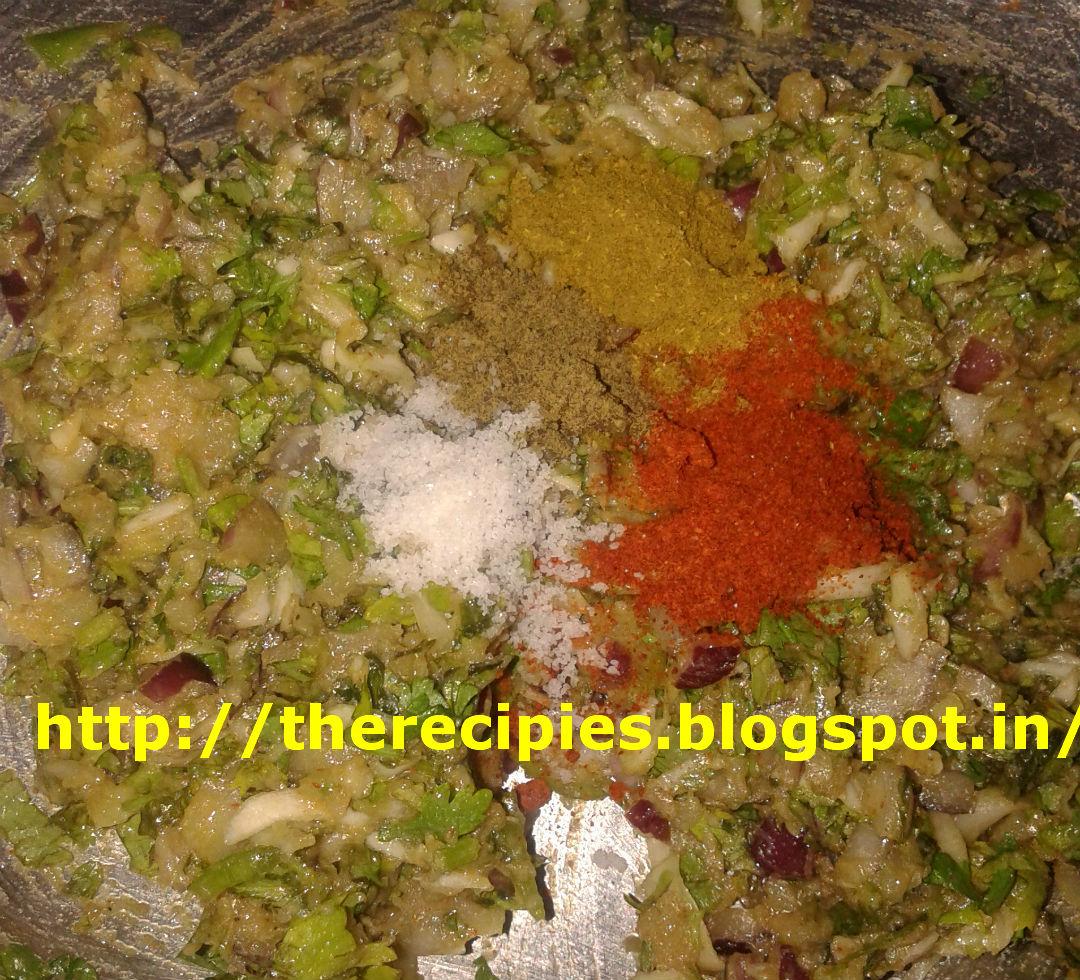 pakora ingredients with masala