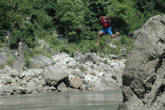 jumping into water from great heights
