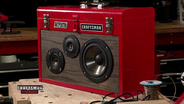 Craftsman Toolbox Converted Into Portable Boombox