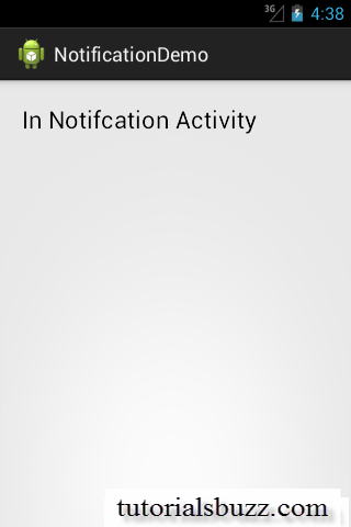 Android Notification Example