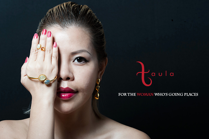 Delicate gold jewelry by Taula, styled by Fashion Blogger Crystal Phuong