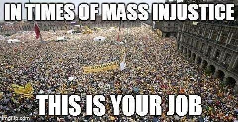 Mass Injustice = Revolution
