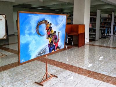 Lukisan-lukisan dilantai 2 Perpustakaan UIN Yogyakarta