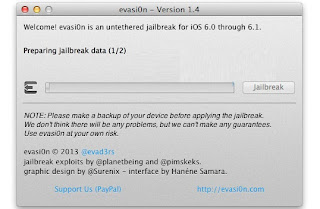 Jailbreak iOS 6.1.2 Using Evasi0n