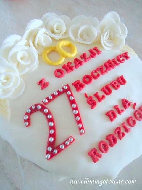 Tort na rocznicę ślubu