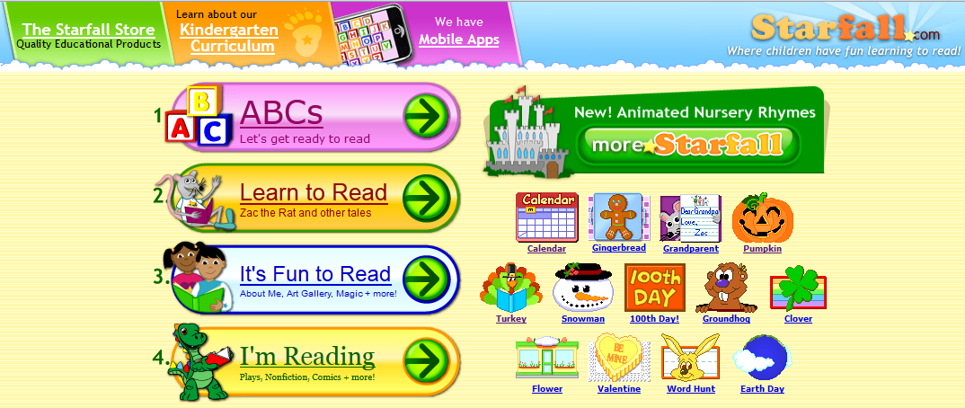 1024x768] App Shopper: Starfall Learn to Read 2 (Education)