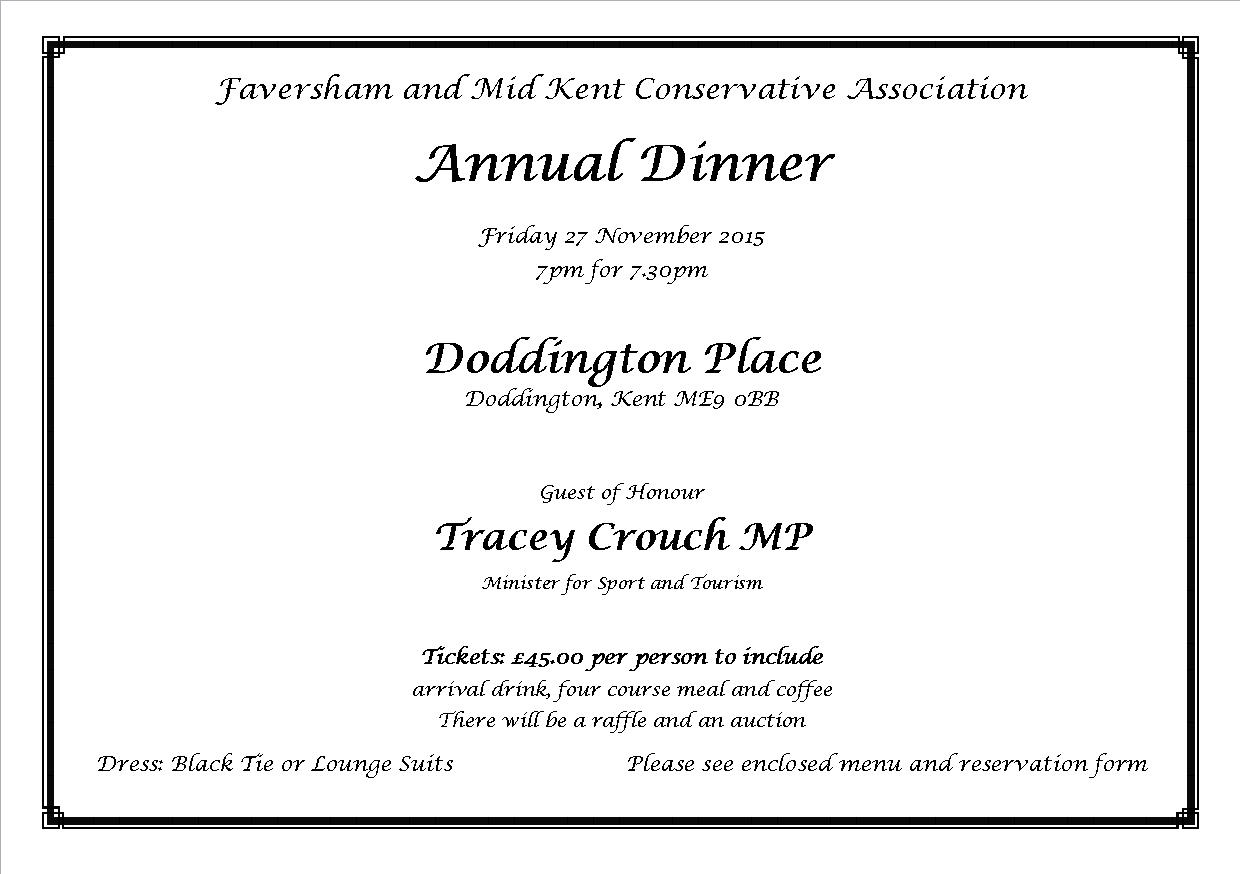 conservative events faversham mid kent annual dinner faversham mid kent annual dinner