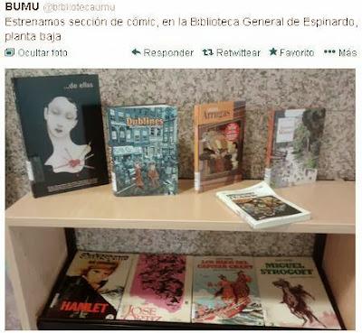 nueva sección de cómic en la Biblioteca General.