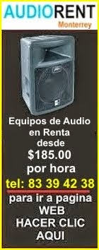 renta de audio en monterrey
