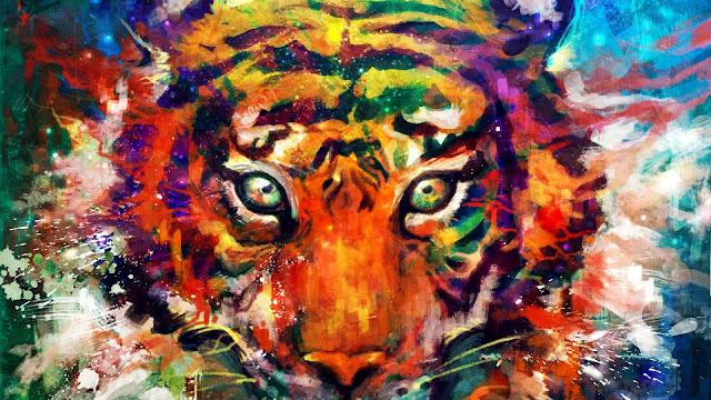 Fondo de pantalla Pintura de un Tigre