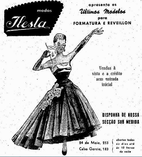 Modas Ilesta - trajes para formaturas e reveillon em 1952