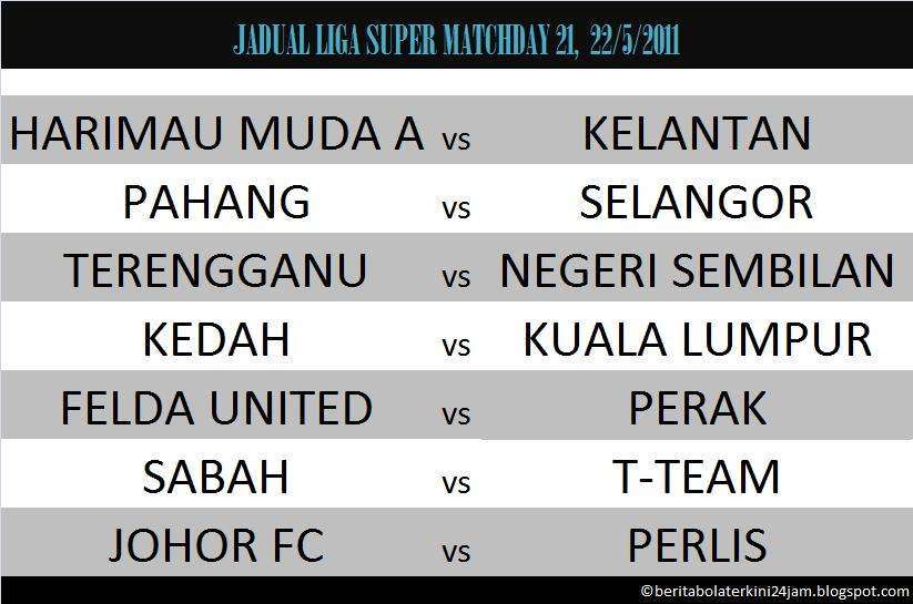 Perlawanan antara Felda United dan Perak akan disiarkan secara