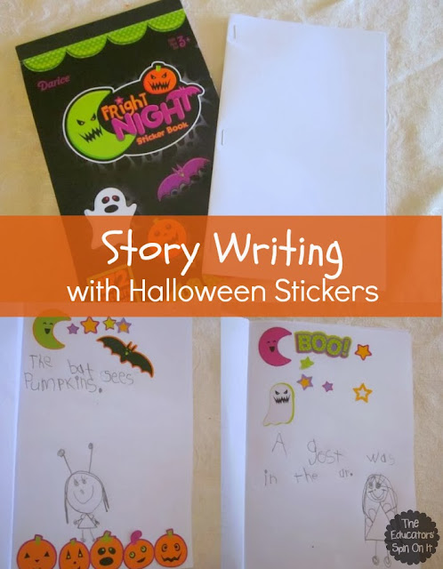 Halloween Story Writing with Stickers from Kim at The Educators' Spin On It