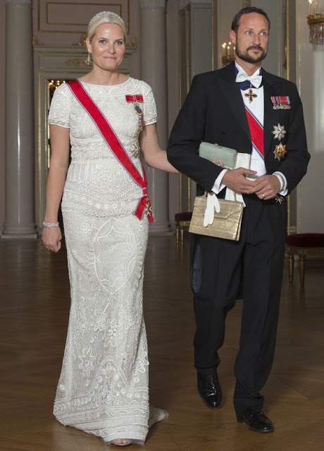 King Harald and Queen Sonja, Crown Princess Mette-Marit and Crown Prince Haakon, Princess Astrid and Mrs Ferner