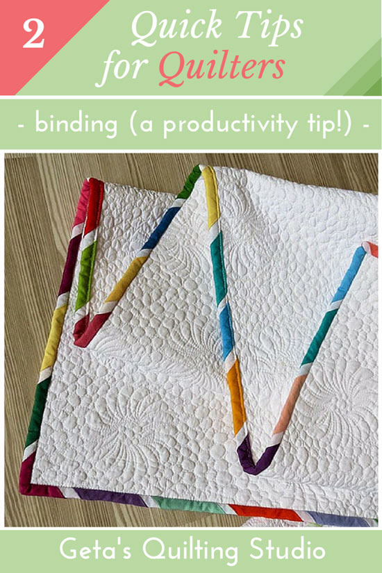 Quilting tips- binding