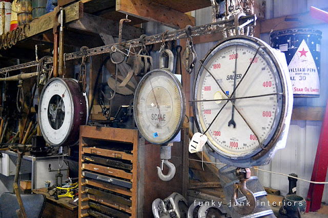 Antique scales /  Junkin' day at Granny and Grumpa's Antiques in Abbotsford, BC via FunkyJunkInteriors.net