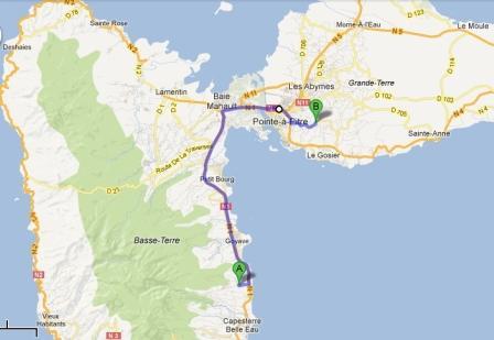 Itinéraire depuis Lamatéliane