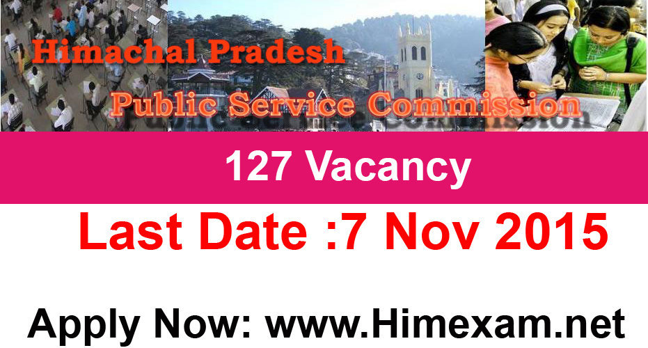HPPSC invites Applications for 127 Posts in Various Department Advt 4/2015