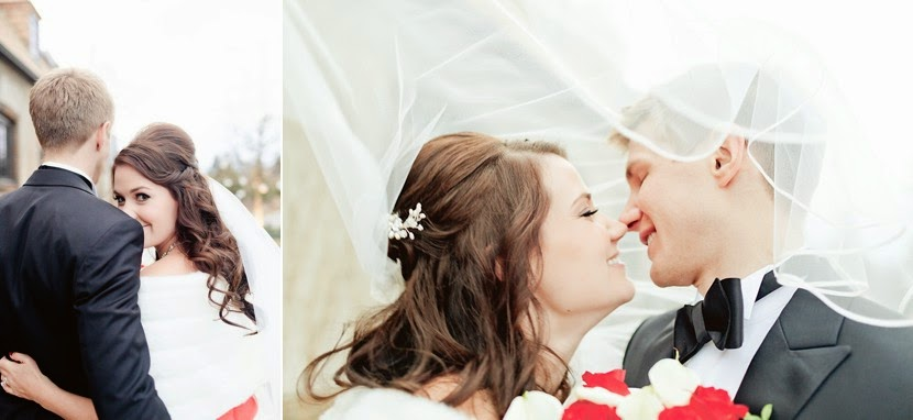 vail kiss bride and groom photo