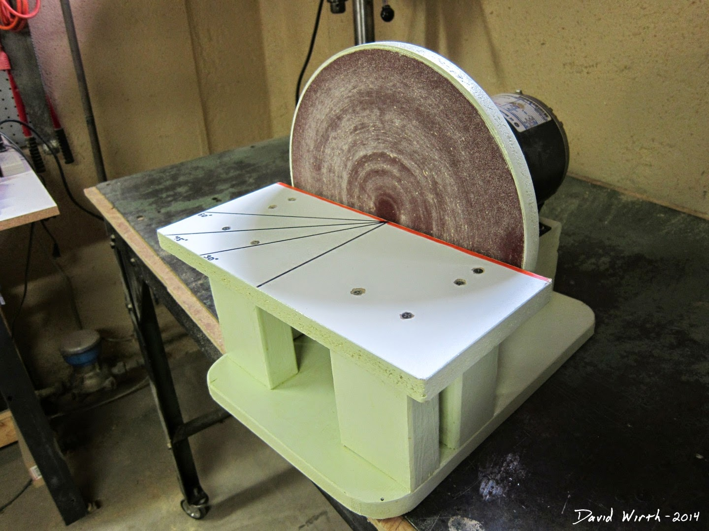 easy to build disk disc sander