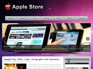 Free Apple Store Purple Blogger Layout Template