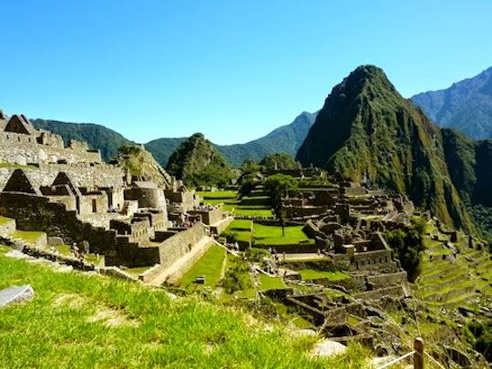 Arrival at Machu Picchu Peru