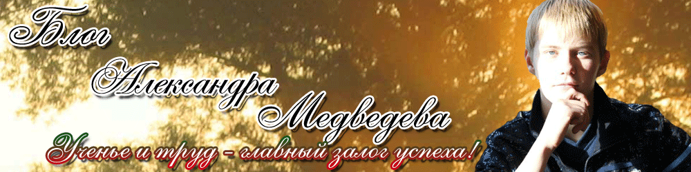 Блог Александра Медведева