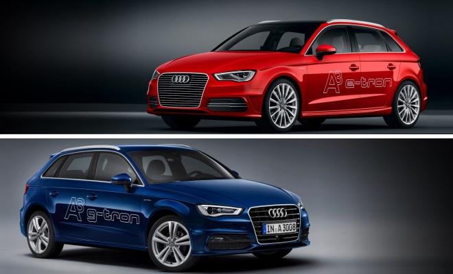 Audi A3 Sportback E-tron and G-tron