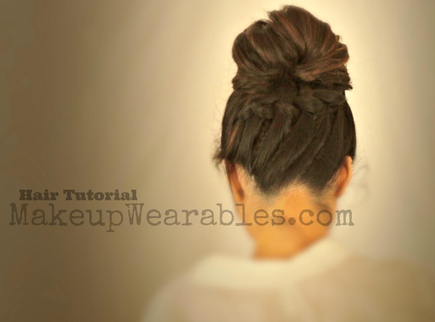 hair tutorial video | school hairstyles & updos for medium long hair