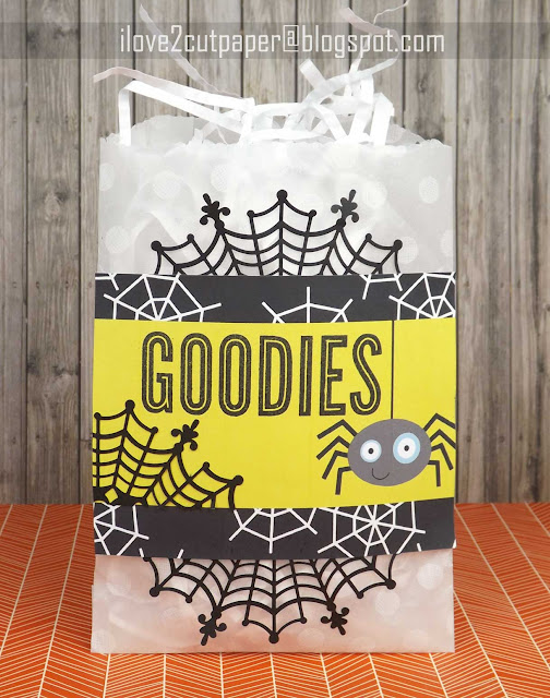 Halloween, goodies bag, spider, ilove2cutpaper, LD, Lettering Delights, Print and Cut, svg, cutting files, templates,